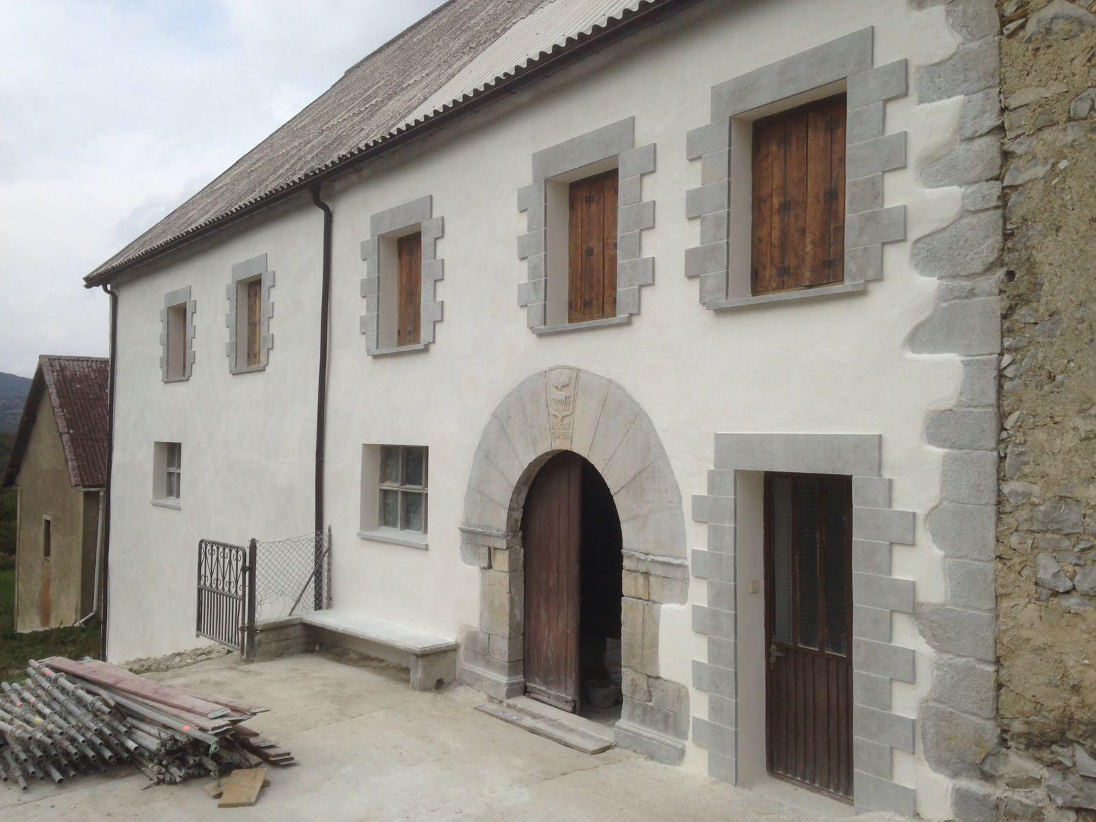 Rehabilitación de fachada en Villanueva de Aezkoa