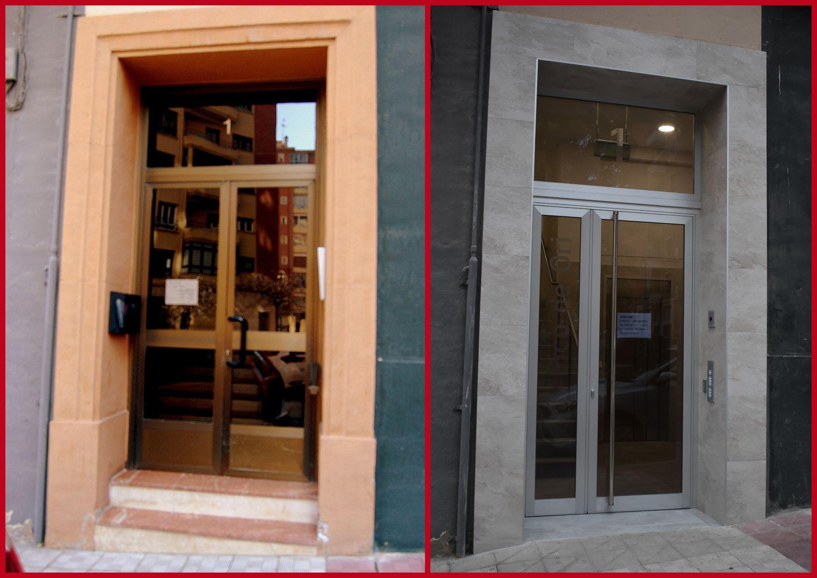 Rehabilitación y eliminación de barreras arquitectónicas en portal de calle Pico de Ori de Pamplona. 2019